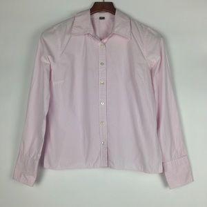 J Crew Slim Pinstripe Classic Button Down Shirt